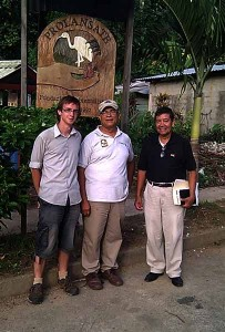 Me with Dennis Sierra and José of Fundación PROLANSATE, Honduras - one of the many groups I met that showed me their work
