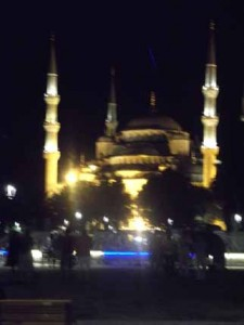The Blue Mosque, one of the largest in Istanbul