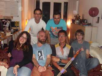 The group at Yigit's house