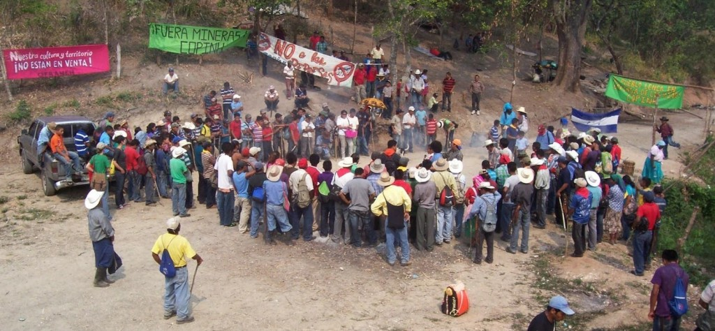 The COPINH road blockade that successfully stopped the Agua Zarca damming project in 2013